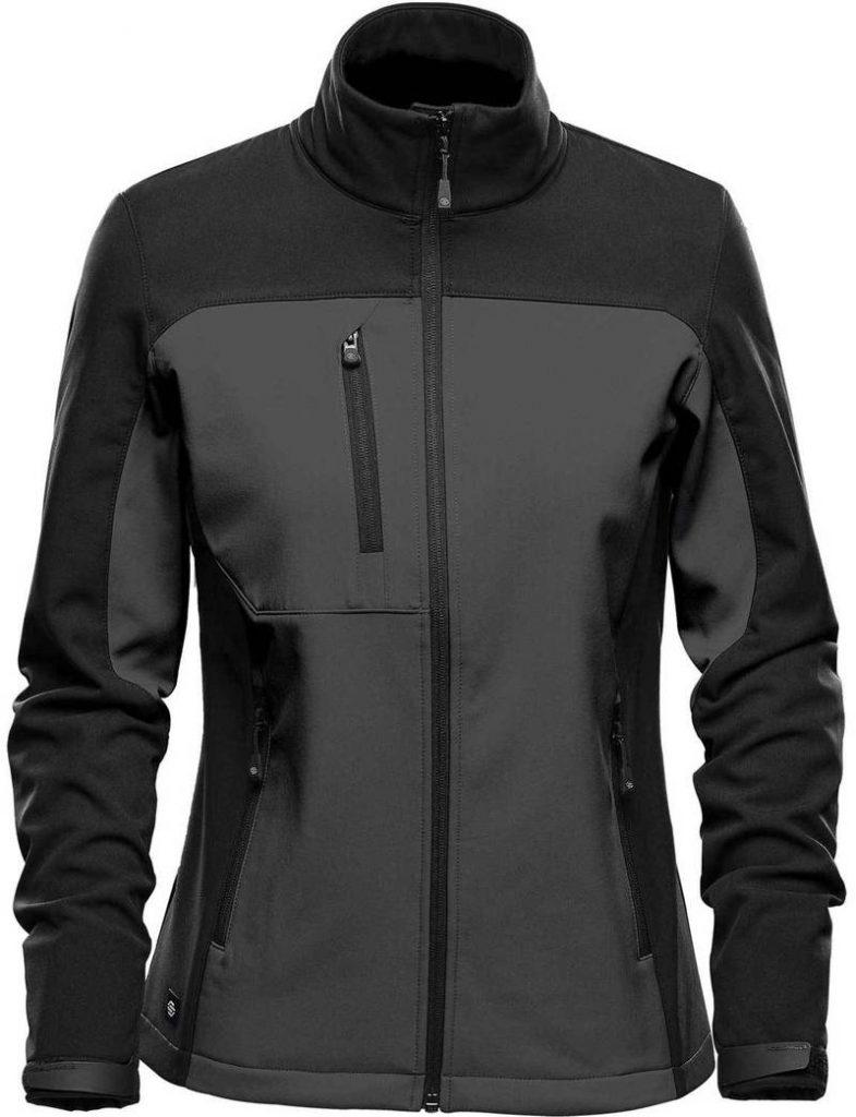 WTSTBHS-3W DOLPHIN BLACK Front - WorkwearToronto.com - Softshell Jackets with custom logo