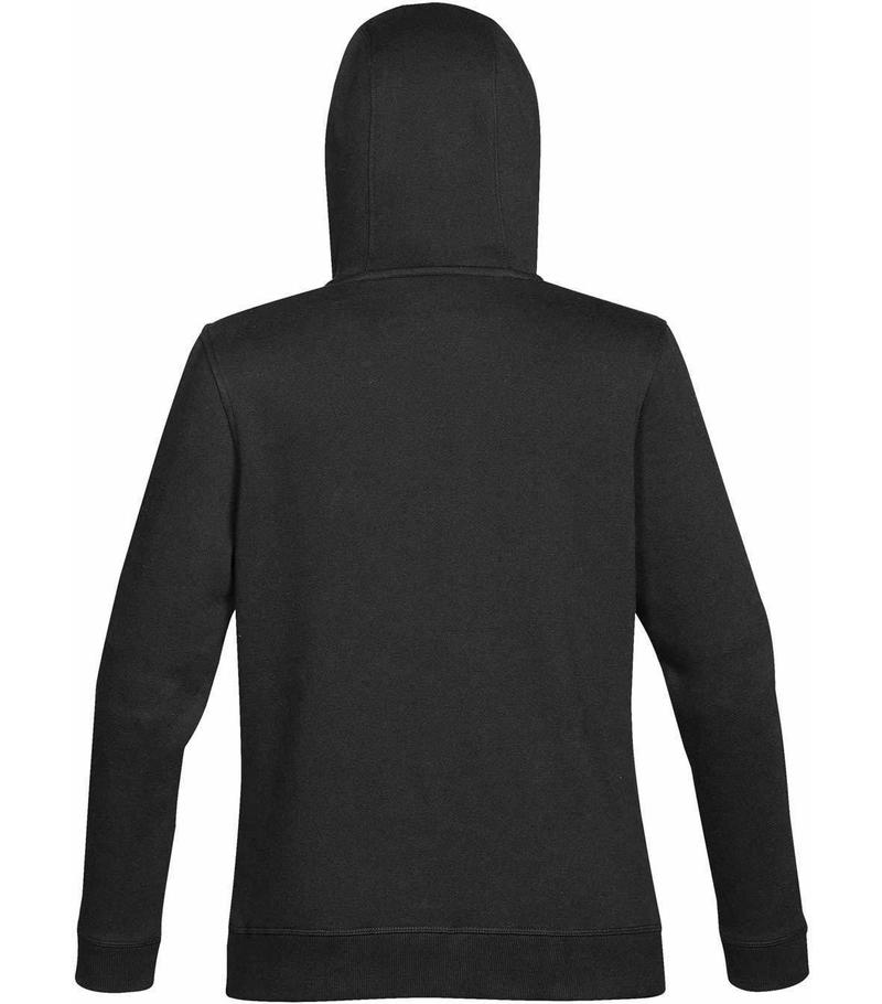 WTSTCFH-1W - Black - WorkwearToronto.com - Women's Baseline Fleece Hoodie - Custom Logo - Back