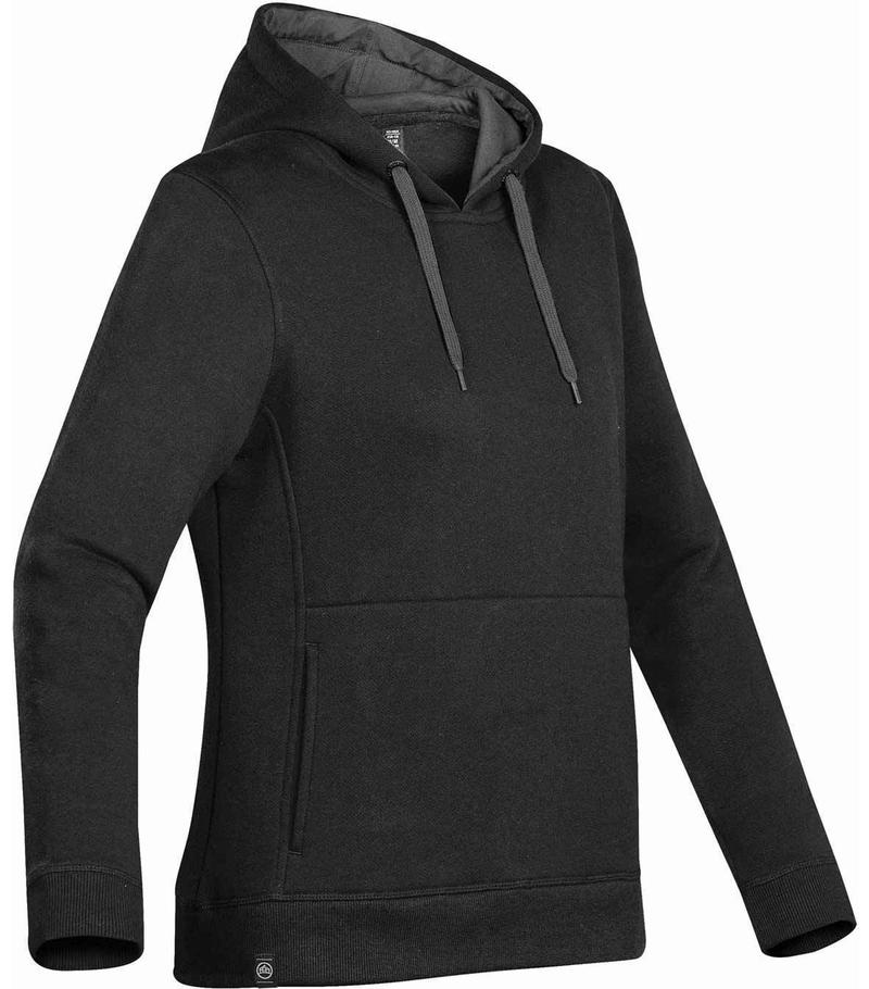 WTSTCFH-1W - Black - WorkwearToronto.com - Women's Baseline Fleece Hoodie - Custom Logo