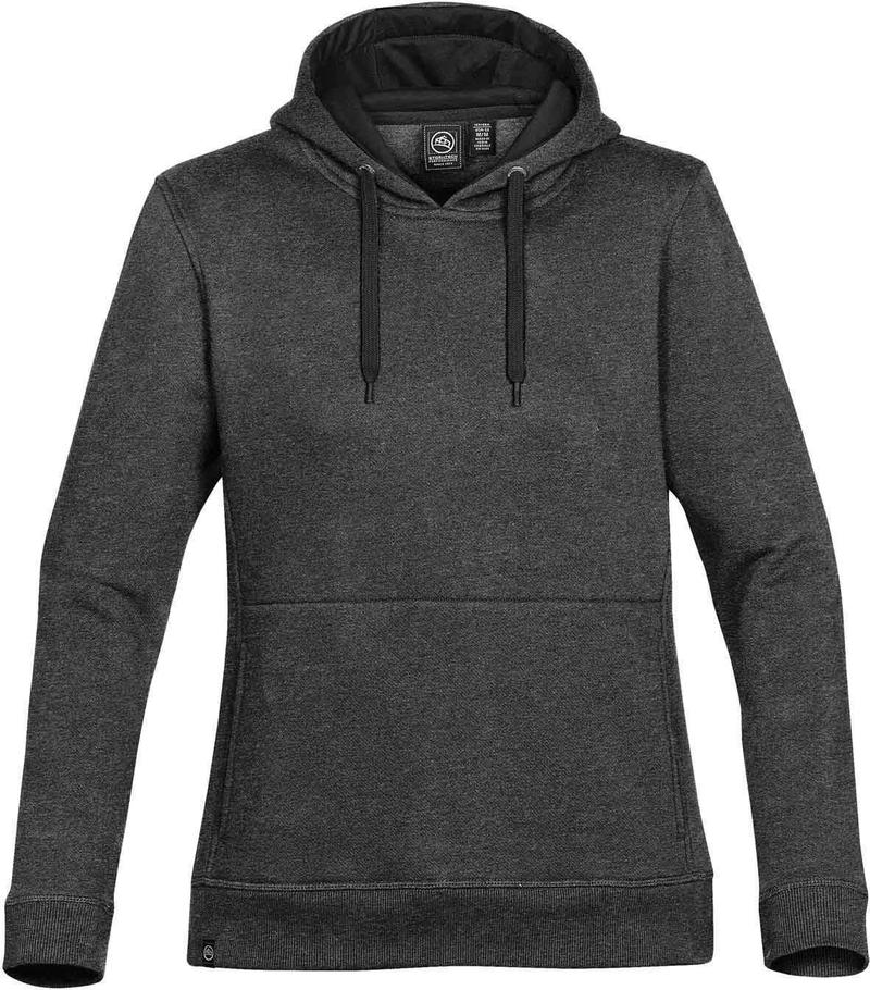 WTSTCFH-1W - Carbon Heather - WorkwearToronto.com - Women's Baseline Fleece Hoodie - Custom Logo