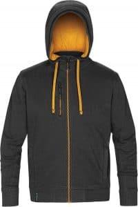 WTSTCFZ-3 - Black & Gold - WorkwearToronto.com - Men's Metro Full Zip Hoodie - Custom Logo
