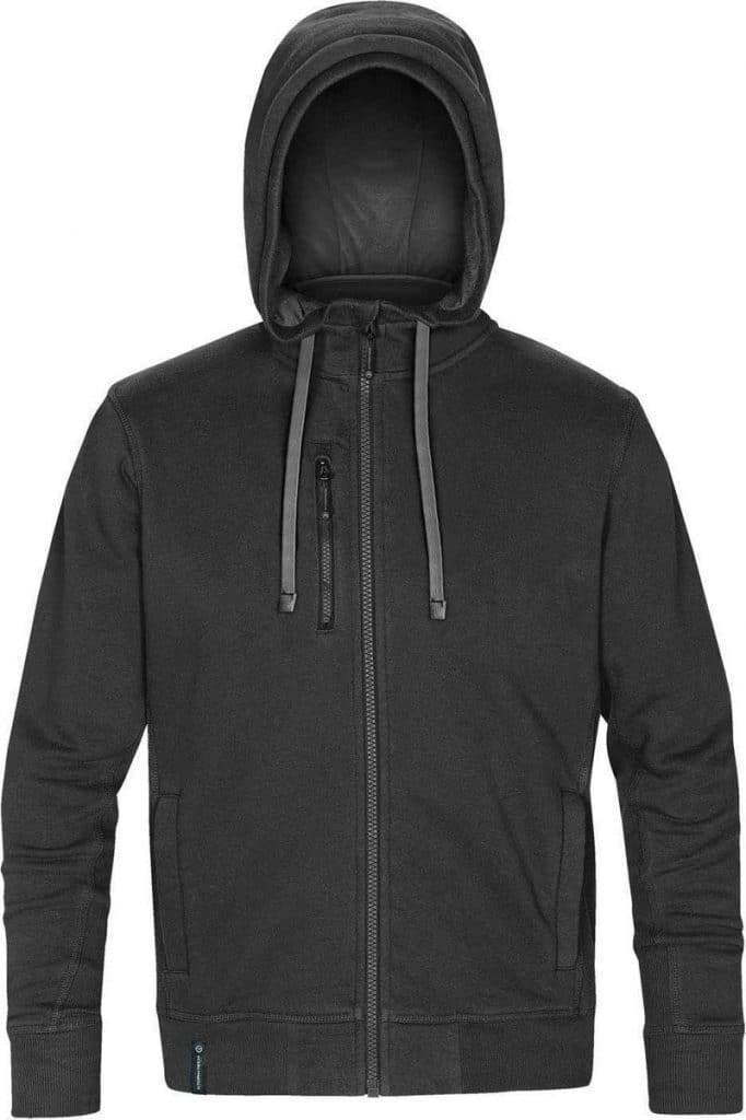 WTSTCFZ-3 - Black & Granite - WorkwearToronto.com - Men's Metro Full Zip Hoodie - Custom Logo