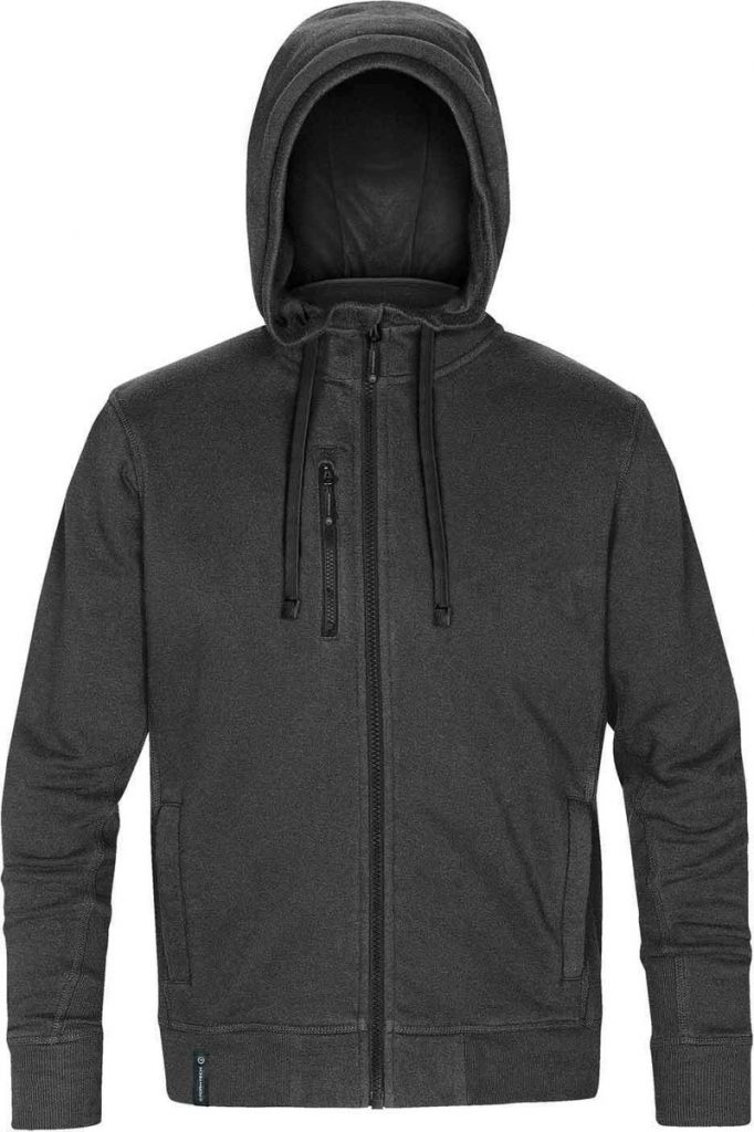 WTSTCFZ-3 - Carbon Heather & Black - WorkwearToronto.com - Men's Metro Full Zip Hoodie - Custom Logo