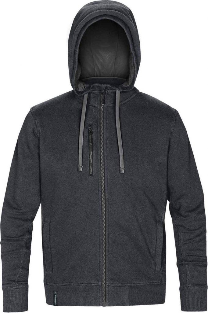 WTSTCFZ-3 - Navy Melange & Granite - WorkwearToronto.com - Men's Metro Full Zip Hoodie - Custom Logo