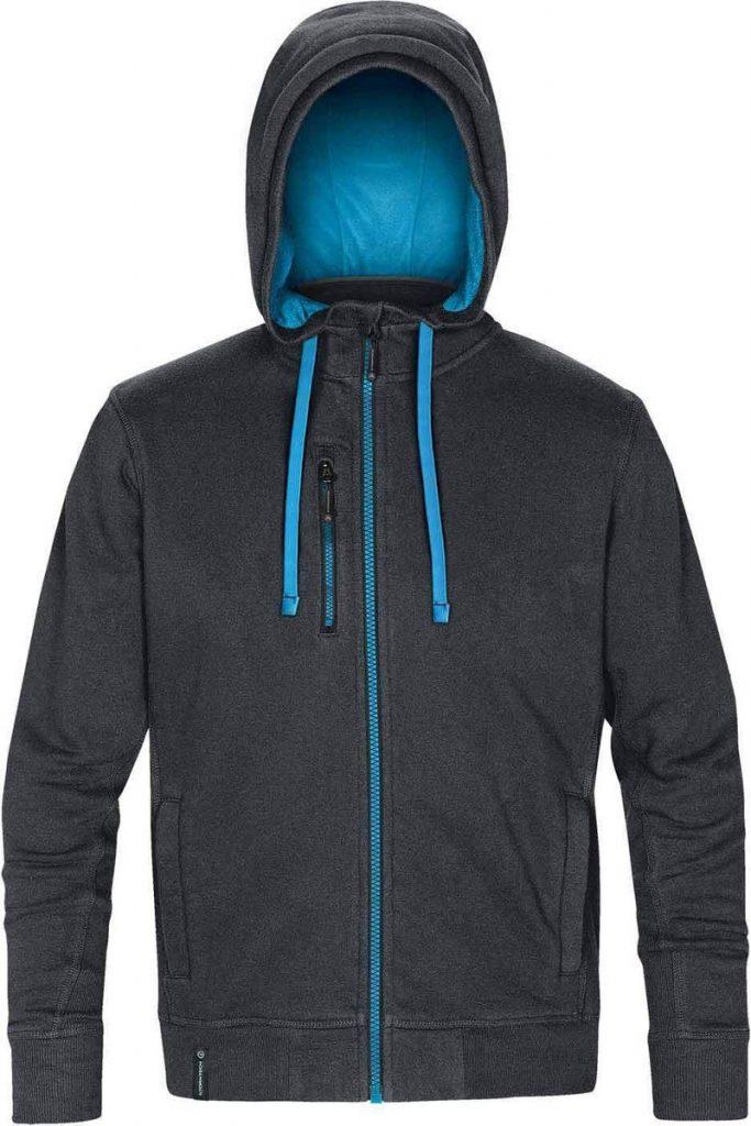 WTSTCFZ-3 - Navy & Metyl Blue - WorkwearToronto.com - Men's Metro Full Zip Hoodie - Custom Logo