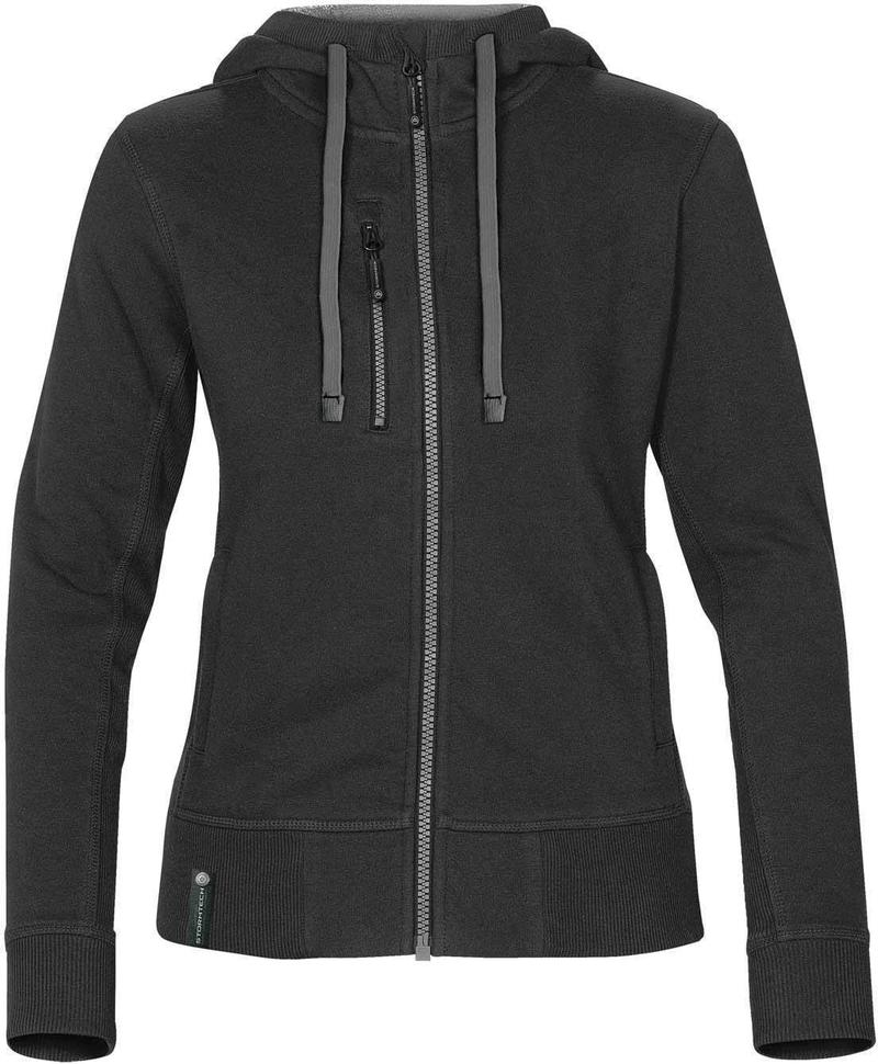 WTSTCFZ-3W - Black & Granite - Women's Full Zip Hoodie - WorkwearToronto.com - Custom Logo