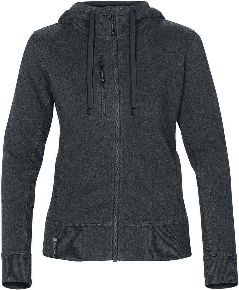 WTSTCFZ-3W - Navy Melange & Navy - Women's Full Zip Hoodie - WorkwearToronto.com - Custom Logo
