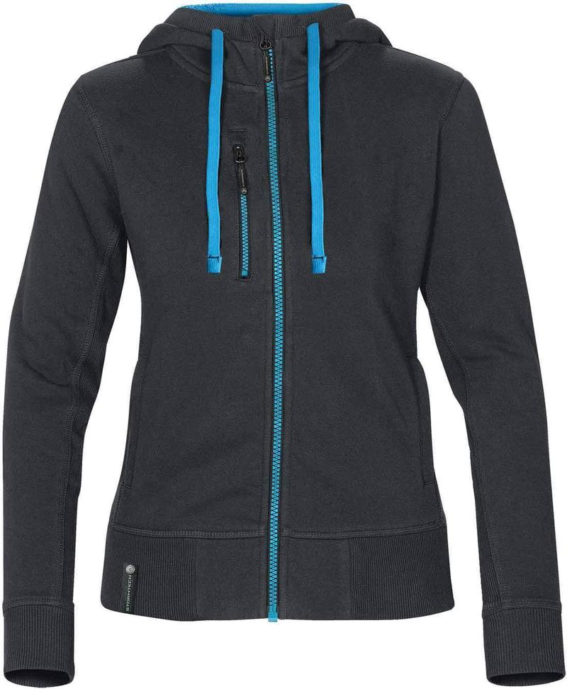 WTSTCFZ-3W - Navy & Methyl Blue - Women's Full Zip Hoodie - WorkwearToronto.com - Custom Logo