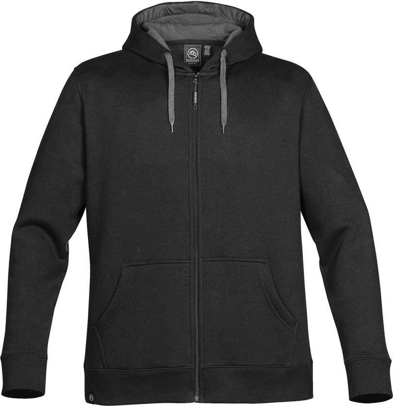 WTSTCFZ-4 - Black Granite - WorkwearToronto.com - Men's Baseline Full Zip Hoodie - Custom Clothing Embroidery and Heat Press - Front