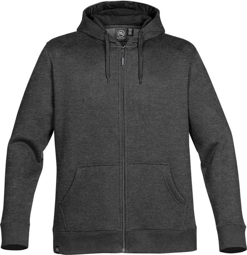 WTSTCFZ-4 - Carbon Melange & Black - WorkwearToronto.com - Men's Baseline Full Zip Hoodie - Custom Clothing Embroidery and Heat Press