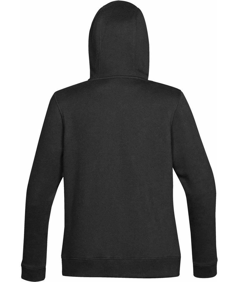 WTSTCFZ-4W - Black - WorkwearToronto.com - Women's Baseline Full Zip Hoodie - Custom Logo - Back