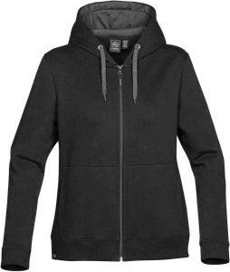 WTSTCFZ-4W - Black - WorkwearToronto.com - Women's Baseline Full Zip Hoodie - Custom Logo - Front