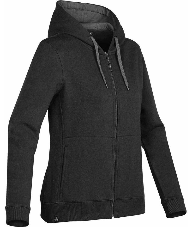 WTSTCFZ-4W - Black - WorkwearToronto.com - Women's Baseline Full Zip Hoodie - Custom Logo