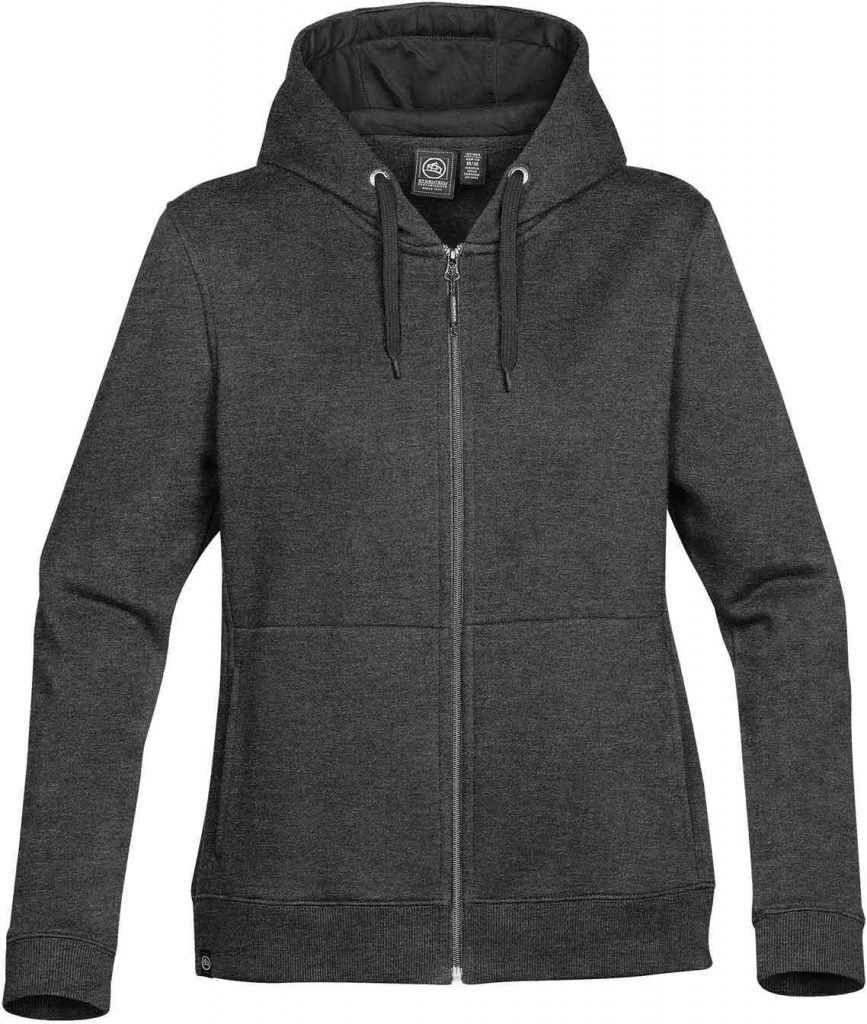 WTSTCFZ-4W - Carbon HBlack - WorkwearToronto.com - Women's Baseline Full Zip Hoodie - Custom