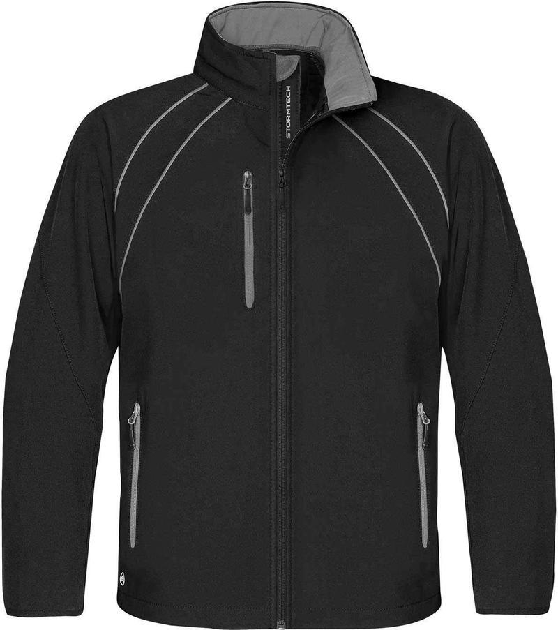 WTSTCXJ-3 Black Granite - WorkwearToronto.com - Men's Crew Softshell jackets with custom logo