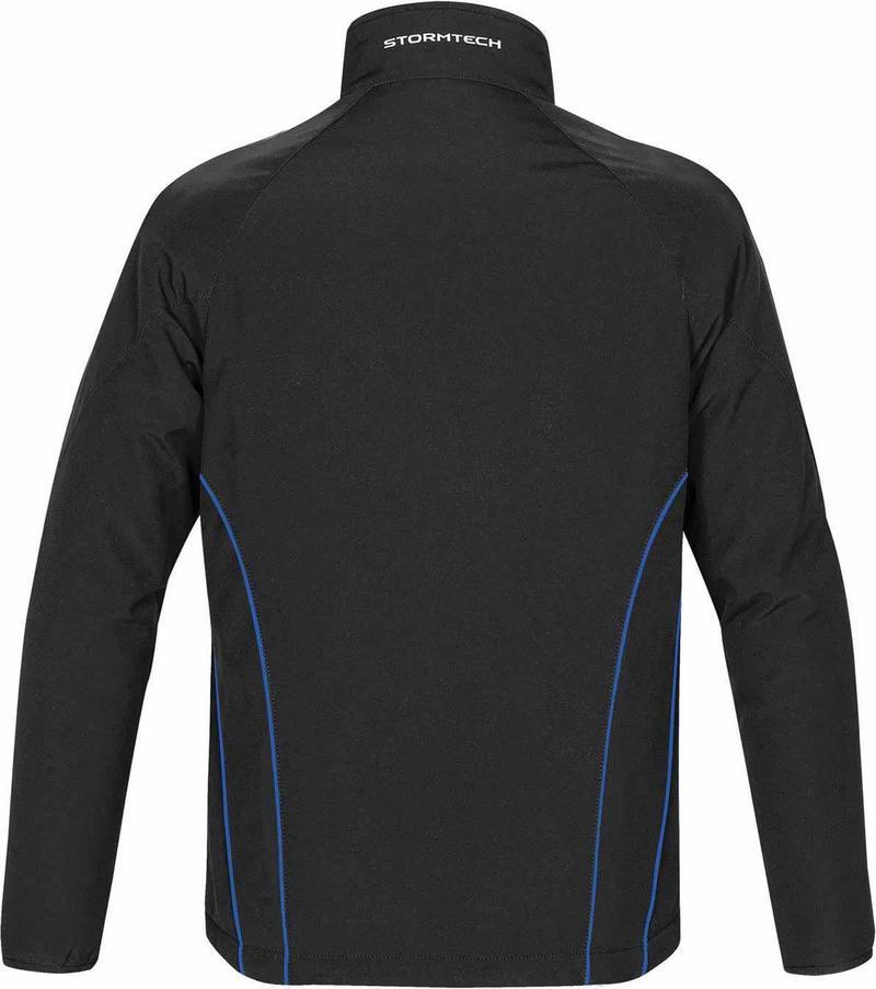 WTSTCXJ-3 Black Royal - WorkwearToronto.com - Men's Crew Softshell jackets with custom logo - back