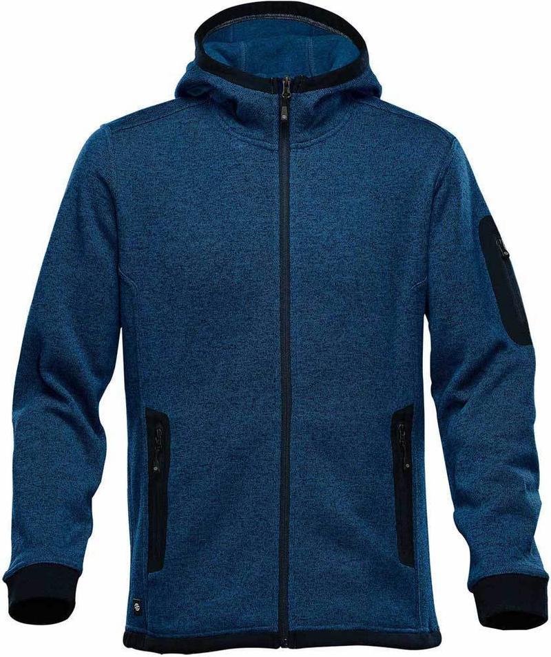 WTSTFH-2 - Denim - WorkwearToronto.com - Men's Knit Fleece Jacket With Hood
