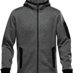 WTSTFH-2 - Graphite - WorkwearToronto.com - Men's Knit Fleece Jacket With Hood