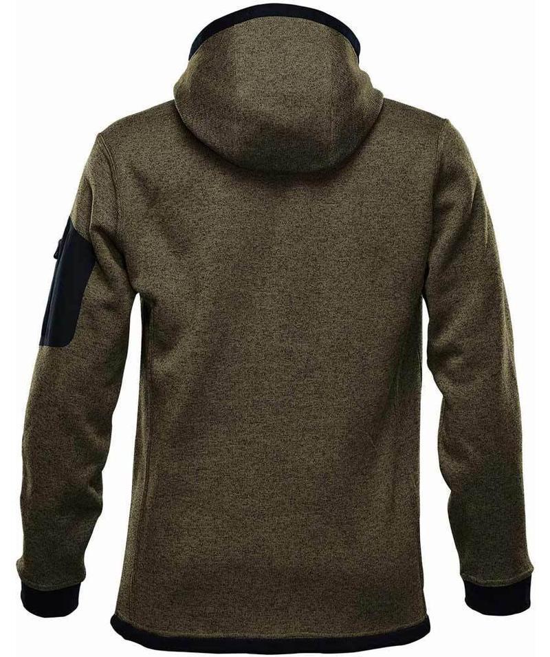 WTSTFH-2 - Sage - WorkwearToronto.com - Men's Knit Fleece Jacket With Hood - Back