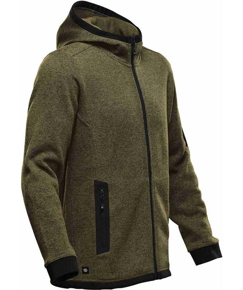 WTSTFH-2 - Sage - WorkwearToronto.com - Men's Knit Fleece Jacket With Hood - Side