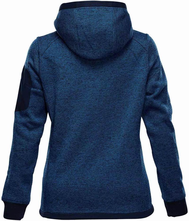 WTSTFH-2W - Denim - Stormtech - WorkwearToronto.com - Custom Logo - Women's Knit Hoodie - Back