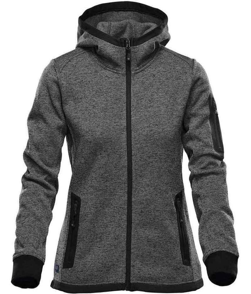 WTSTFH-2W - Graphite - Stormtech - WorkwearToronto.com - Custom Logo - Women's Knit Hoodie