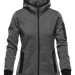 WTSTFH-2W - Graphite - WorkwearToronto.com - Women's Knit Fleece Jacket With Hood - Custom Clothing Embroidery and Heat Press