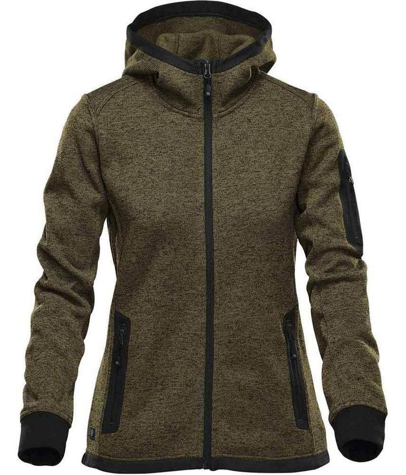 WTSTFH-2W - Sage - WorkwearToronto.com - Women's Knit Fleece Jacket With Hood - Custom Clothing Embroidery and Heat Press