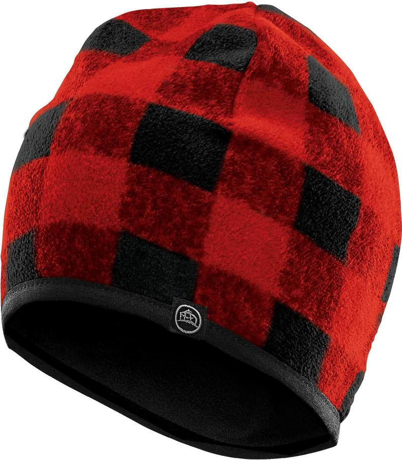 WTSTFLE-1 - Red - WorkwearToronto.com - Custom Fleece Toques & Beanies With Custom Logo - Embroidery Pricing