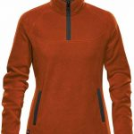 WTSTFPL-1W - Burnt Orange & Graphite - WorkwearToronto.com - Shasta Tech Fleece jacket For Women - Side - Custom Clothing Embroidery and Heat Press