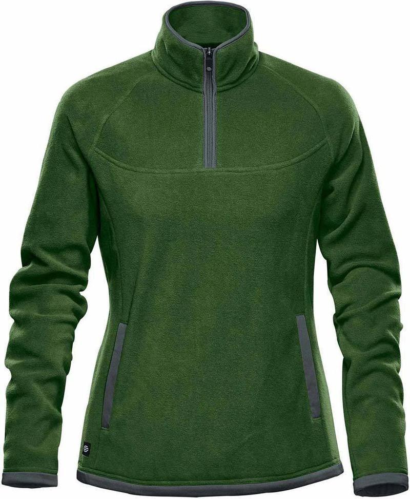 WTSTFPL-1W - Garden Green & Graphite - WorkwearToronto.com - Shasta Tech Fleece jacket For Women - Side - Custom Clothing Embroidery and Heat Press