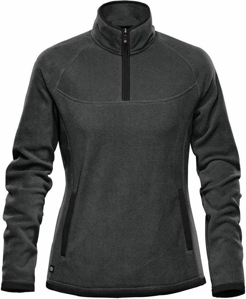 WTSTFPL-1W - Graphite & Black - WorkwearToronto.com - Shasta Tech Fleece jacket For Women - Side - Custom Clothing Embroidery and Heat Press