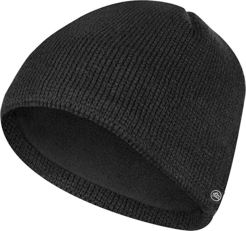 WTSTKFH-1 - Black - WorkwearToronto.com - Custom Headwear With Custom Logo - Toques & Beanies - Fleece Beanie