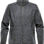 WTSTKR-1 - Graphite - WorkwearToronto.com - Men's Knit Fleece Jacket With Custom Logo