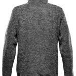 WTSTKR-1 - Graphite - WorkwearToronto.com - Men's Knit Fleece Jacket With Custom Logo - Back
