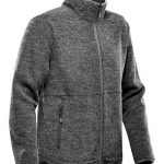 WTSTKR-1 - Graphite - WorkwearToronto.com - Men's Knit Fleece Jacket With Custom Logo - Side