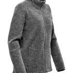 WTSTKR-1W - Graphite - WorkwearToronto.com - Women's Fleece Knit Jackets