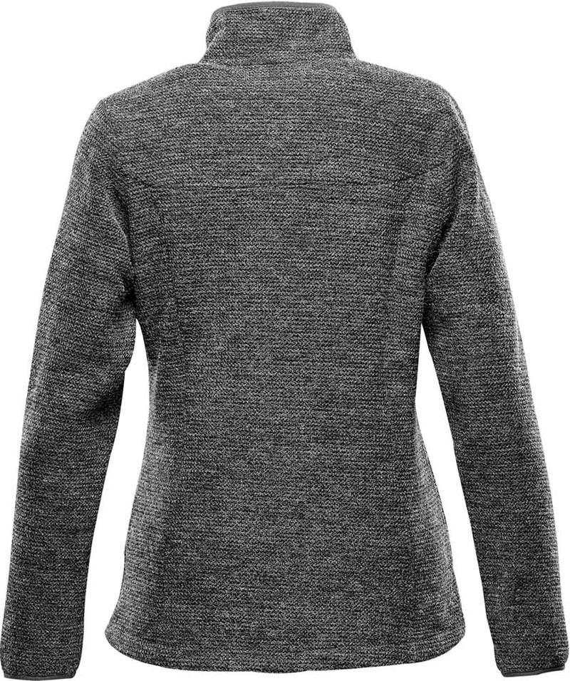 WTSTKR-1W - Graphite - WorkwearToronto.com - Women's Fleece Knit Jackets - Back