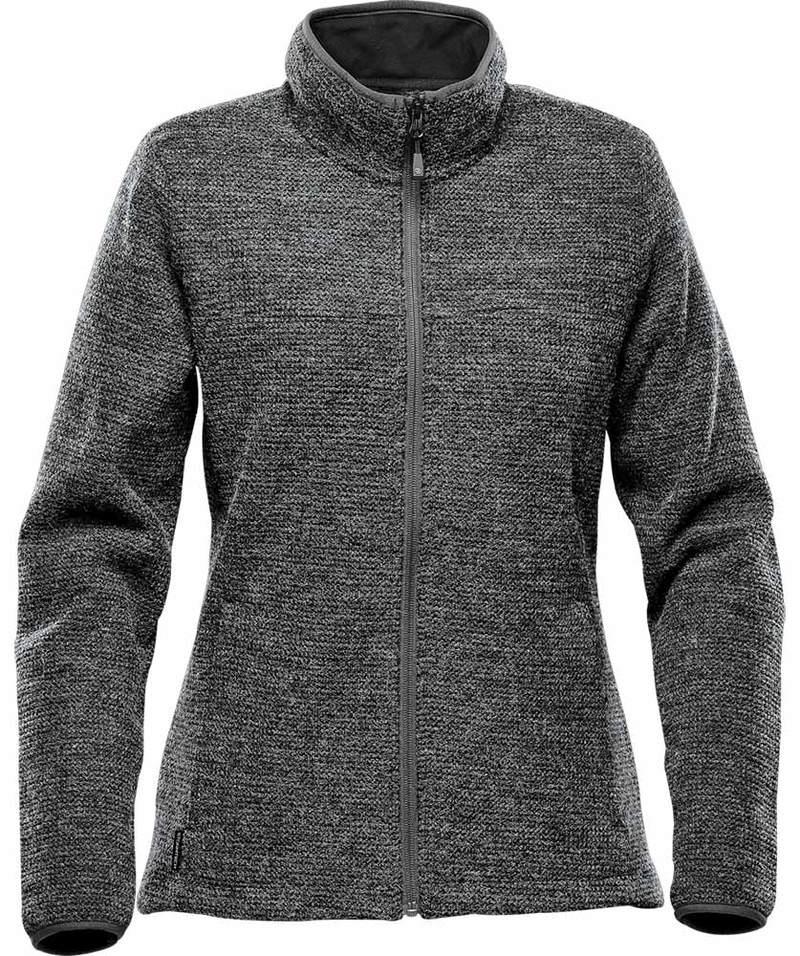 WTSTKR-1W - Graphite - WorkwearToronto.com - Women's Fleece Knit Jackets - Front