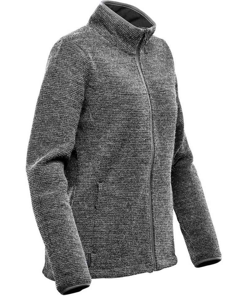 WTSTKR-1W - Graphite - WorkwearToronto.com - Women's Fleece Knit Jackets