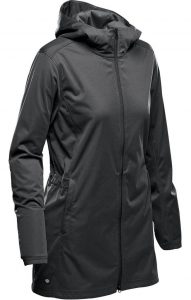 WTSTKSL-1W Dolphin Black - WorkwearToronto.com - Women's Belcarra Softshell Jackets with custom logo