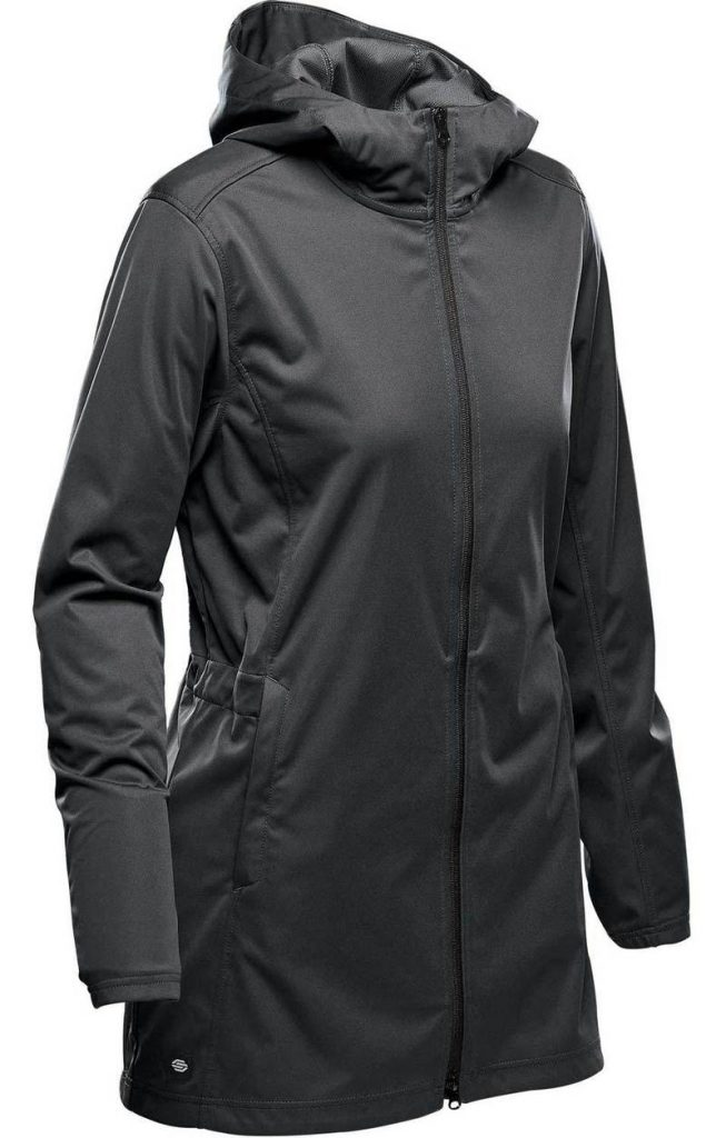 WTSTKSL-1W Dolphin Black - WorkwearToronto.com - Women's Belcarra Softshell Jackets with custom logo