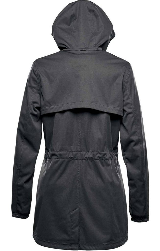 WTSTKSL-1W Dolphin Black - WorkwearToronto.com - Women's Belcarra Softshell jackets with custom logo - Back