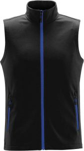 WTSTKSV-1 Azure Blue - WorkwearToronto.com - Men's Orbiter Softshell Vest - Custom Corporate Apparel - Front
