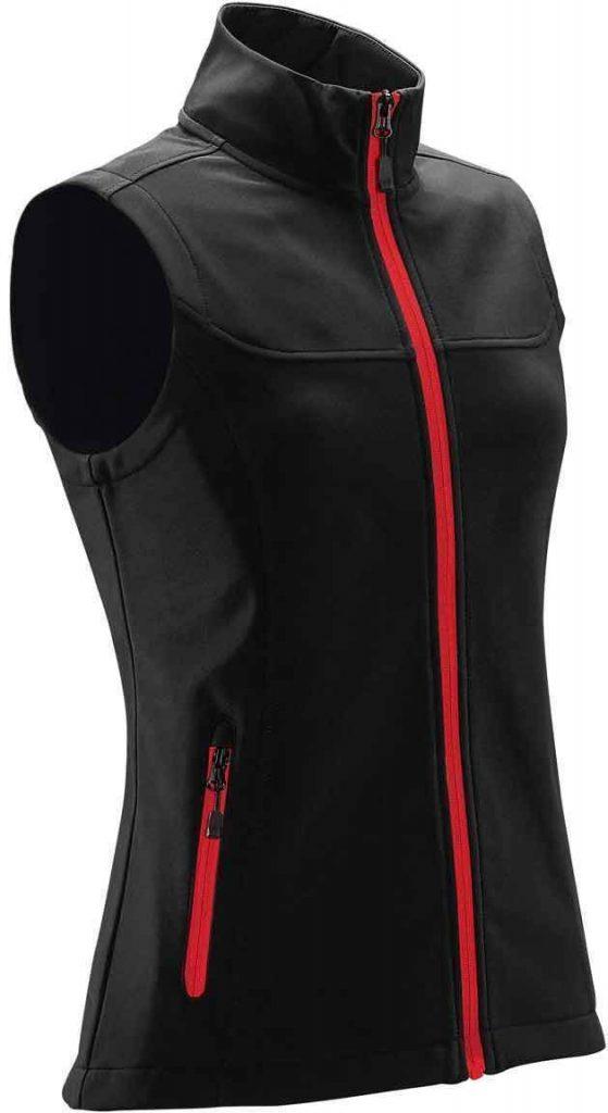 WTSTKSV-1W - Bright Red - Women's Orbiter Softshell Vest - Custom Clothing Embroidery and Heat Press