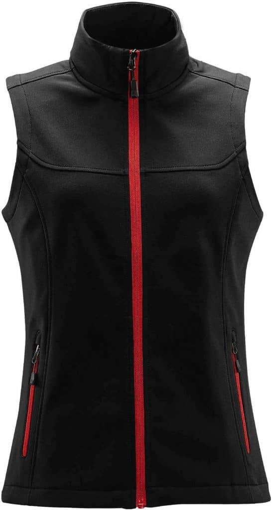 WTSTKSV-1W - Bright Red - Women's Orbiter Softshell Vest - Front