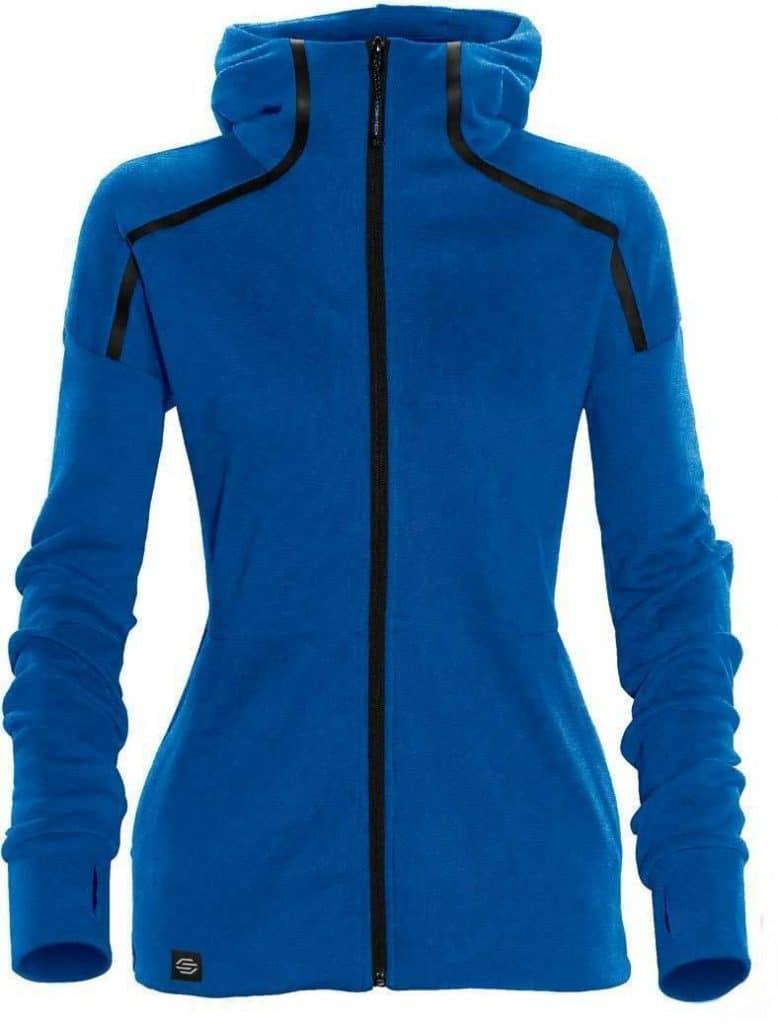 WTSTMH-1W - AzureBlue - Women's Helix Thermal Hoodie - WorkwearToronto.com - Custom Logo - Front