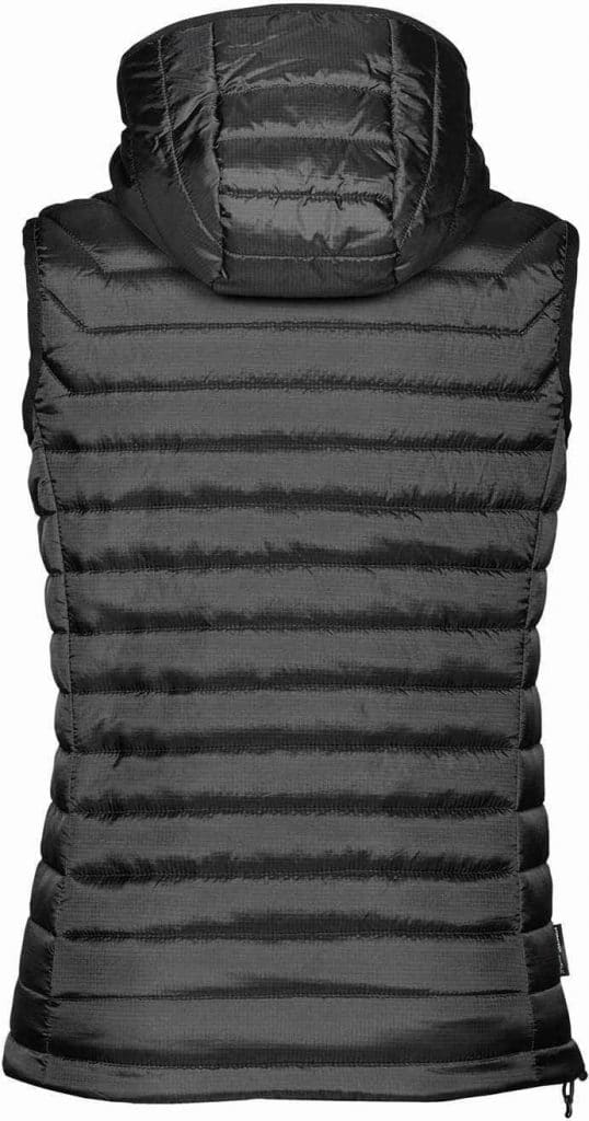 WTSTPFV-2W - Black & Charcoal - WorkwearToronto.com - Women's Gravity Thermal Vest - Back