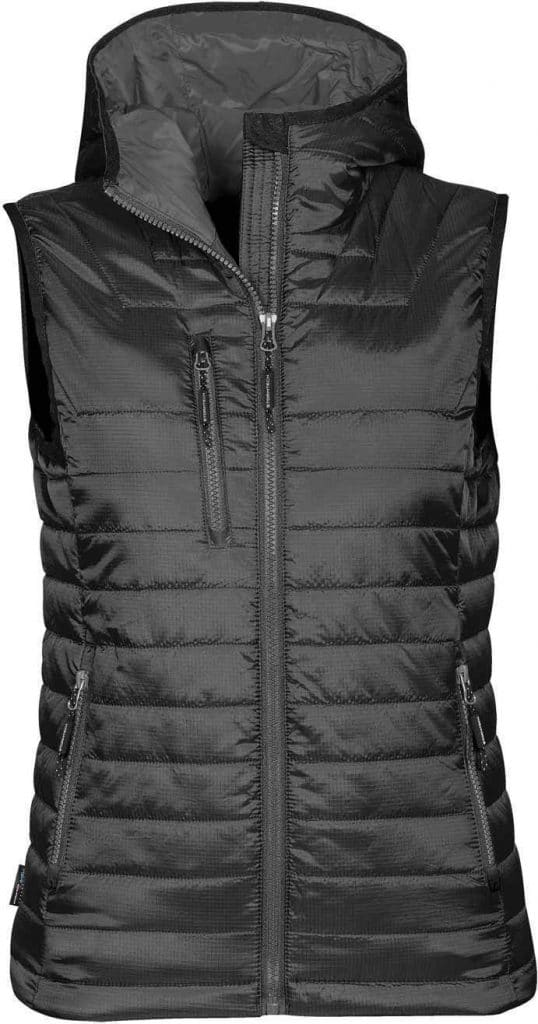 WTSTPFV-2W - Black & Charcoal - WorkwearToronto.com - Women's Gravity Thermal Vest - Front