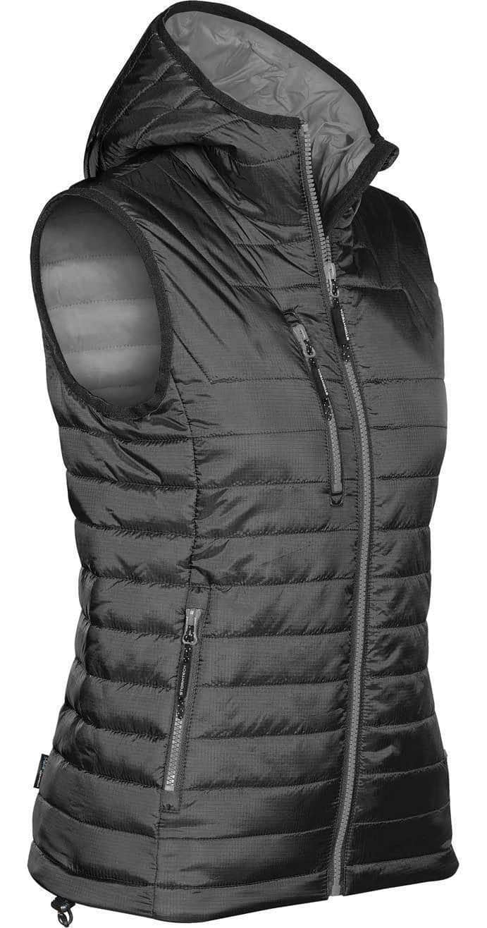 WTSTPFV-2W - Black & Charcoal - WorkwearToronto.com - Women's Gravity Thermal Vest - Custom Clothing Embroidery and Heat Press
